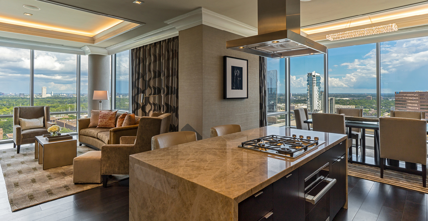 Luxury Apartment Living Room - The Post Oak Hotel