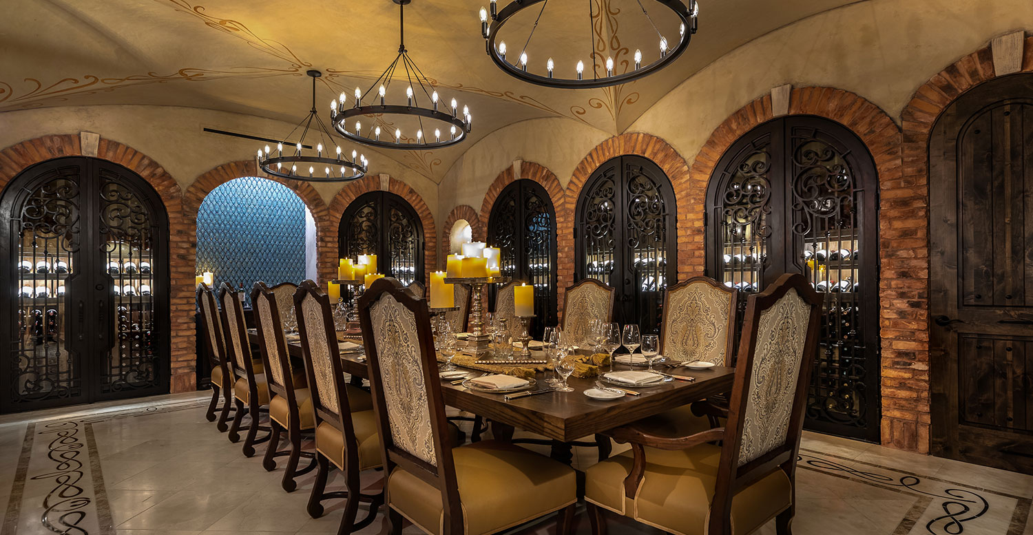 The Cellar dining area