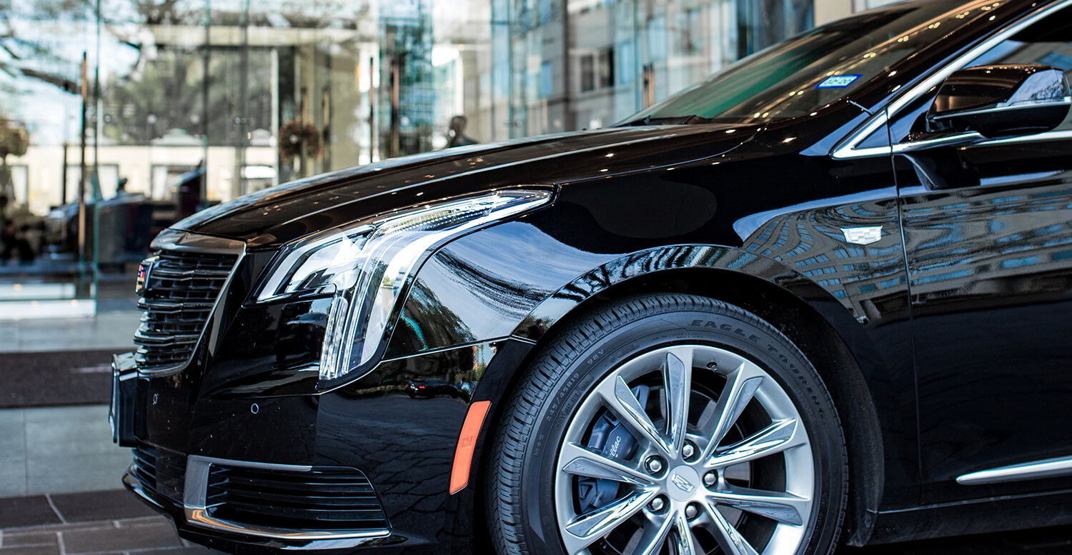 Cadillac xts close up.