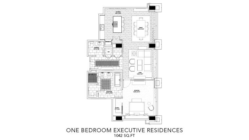 Executive Residence One Bedroom 3