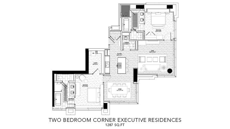 Two bedroom Corner executive residences