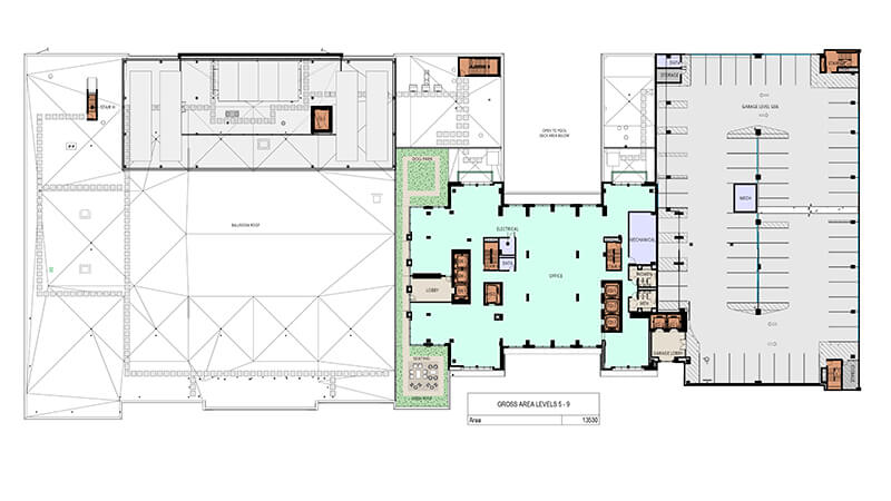 Office space plans Unique Floor Plans The Post Oak Hotel Commercial Office Space Houston The Post Oak