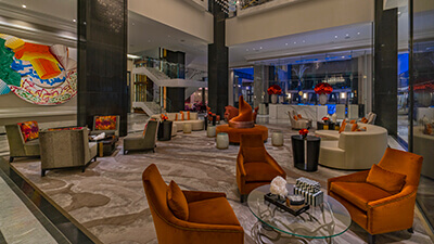 High-End Luxury Lobby Sitting Area