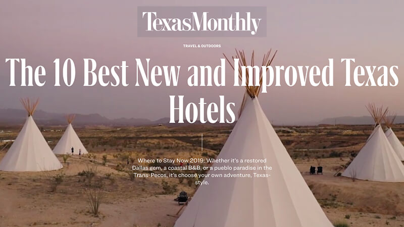The 10 best new and improved Texas hotels.