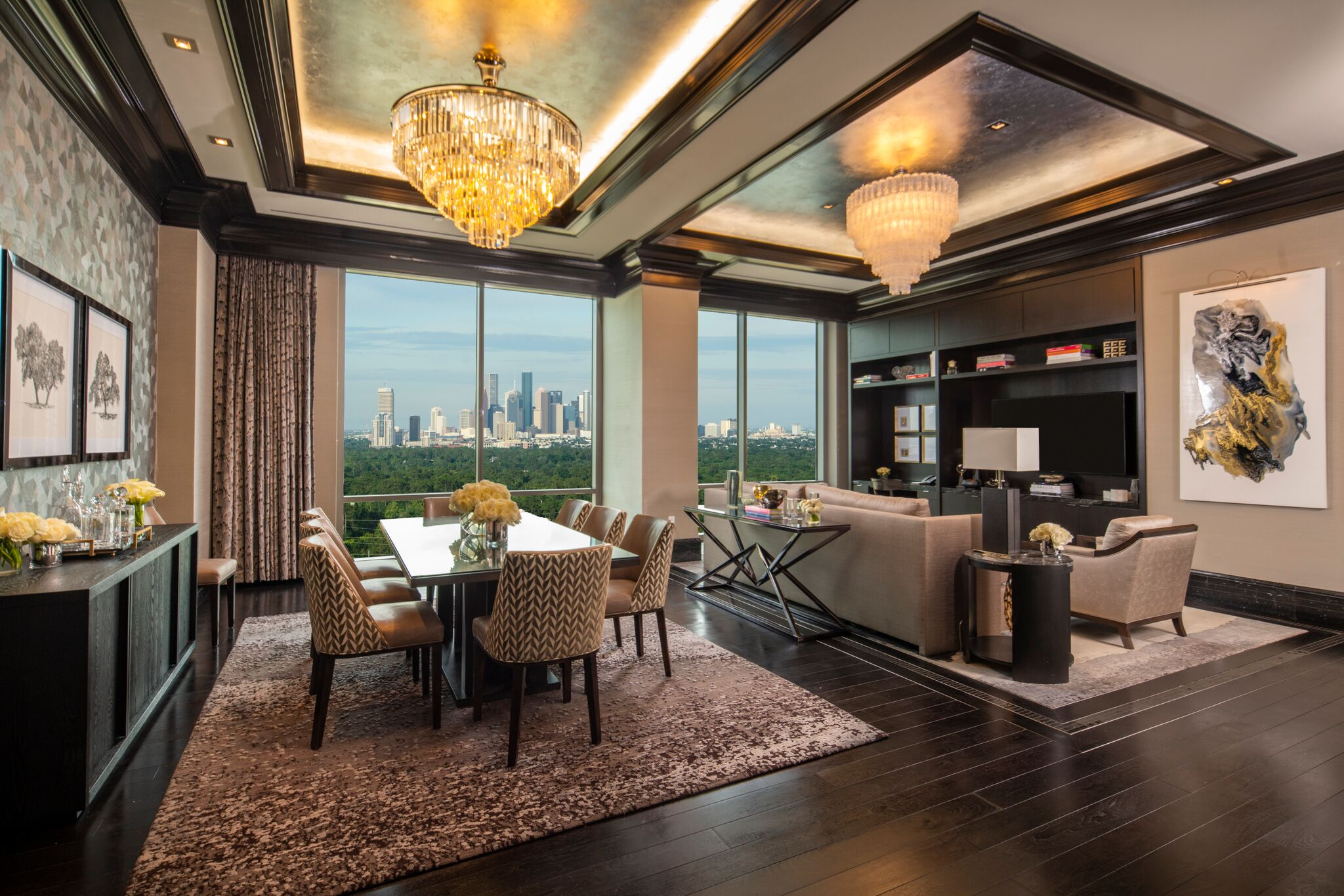 The post oak suite with concierge lounge access in - The living room lounge houston tx ...